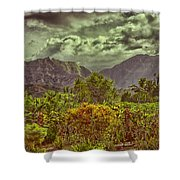 In Search Of The Dinosaurs-jurassic Park Shower Curtain