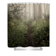 In Silence Shower Curtain
