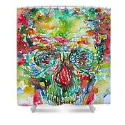 In Silence The Inaudible Voices Spoke Shower Curtain