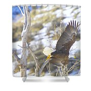 In Take Off  Shower Curtain