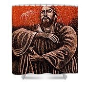In The Arms Of Christ Shower Curtain