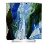 In The Blue Realm Shower Curtain
