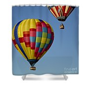 In The Clear Blue Skies Shower Curtain