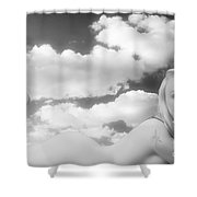 In The Cloud 1082 .01 Shower Curtain