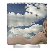 In The Cloud 1082 .02 Shower Curtain