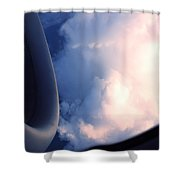 In The Cloud Shower Curtain