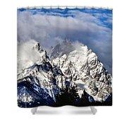 The Teton Range Shower Curtain