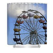 Around In The Clouds Shower Curtain