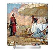 In The Desert Of Mount Sinai Shower Curtain