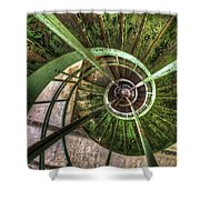 In The Eye Of The Spiral  Shower Curtain