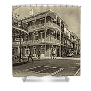 In The French Quarter Sepia Shower Curtain