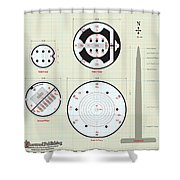 In The Halls Of The Mage-king Tower Levels Shower Curtain