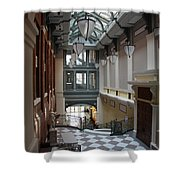 In The Hallway - Peabody Library Shower Curtain