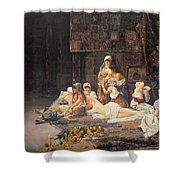 In The Harem Shower Curtain by Jose Gallegos Arnosa