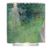 In The Hawthorn Hedge Shower Curtain