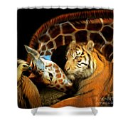 In The Jungle 20150215brun Square Shower Curtain