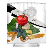 In The Kitchen 4 Shower Curtain
