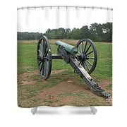 In The Line Of Fire - Manassas Battlefield Shower Curtain