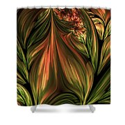 In The Midst Of Nature Abstract Shower Curtain