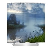 In The Morning At 02.57 Shower Curtain
