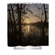 In The Morning At Lough Eske Shower Curtain