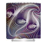 In The Night - Square Version Shower Curtain