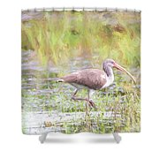 In The Pasture Grass Shower Curtain