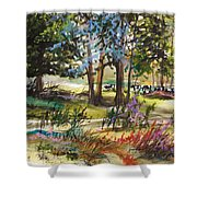 In The Pasture  Shower Curtain