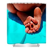 In The Pool - Feet Series Shower Curtain