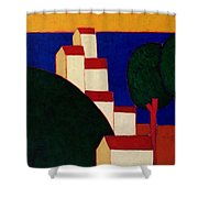 In The Provencal Alps Shower Curtain