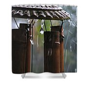 In The Rain Shower Curtain