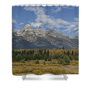 In The Shadow Of The Tetons Shower Curtain