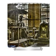 In The Ship-lift Engine Room Shower Curtain