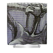 In The Shower - Portrait Of A Woman Shower Curtain