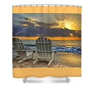 In The Spotlight Shower Curtain by Debra and Dave Vanderlaan