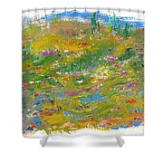 In The Valley Shower Curtain
