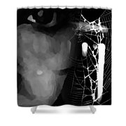 In The Web Shower Curtain