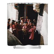 In Tibet Tibetan Monks 5 By Jrr Shower Curtain
