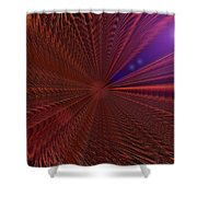 In Warp Shower Curtain
