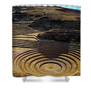 Inca Crop Circles At Moray Shower Curtain