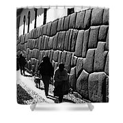 Inca Street Cusco Shower Curtain