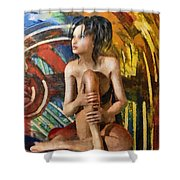 Inca Woman Shower Curtain