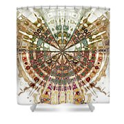 Incan Abstraction Shower Curtain by Amanda Moore