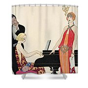Incantation Shower Curtain by Georges Barbier