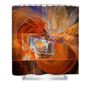 Incendiary Ammunition Abstract Shower Curtain