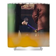 Incense Presentation At Yonghegong Temple 3 Of 5 Shower Curtain