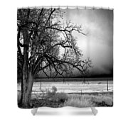 Incoming Storm Shower Curtain by Cat Connor