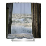 Incoming Tide At 32nd Street Pier Avalon New Jersey Shower Curtain