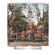 Independence Hall 1900 Shower Curtain