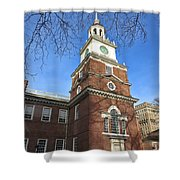 Independence Hall Bell Tower Shower Curtain